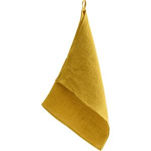 Вафельное кухонное полотенце горчичного цвета 47x70 Tkano Essential (TK18-TT0004) блузка горчичного цвета купить