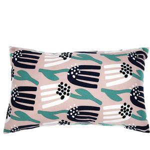 Чехол для подушки цвета пыльной розы с принтом Lazy flower 30х50 Tkano Cuts&Pieces (TK18-CC0004)