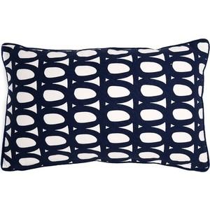 Чехол для подушки с принтом Twirl темно-синего цвета 30х50 Tkano Cuts&Pieces (TK18-CC0005)