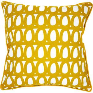 Чехол для подушки с принтом Twirl горчичного цвета 45х45 Tkano Cuts&Pieces (TK18-CC0006)