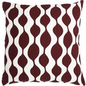Чехол для подушки Traffic, бордового цвета 45х45 Tkano Cuts&Pieces (TK18-CC0007)
