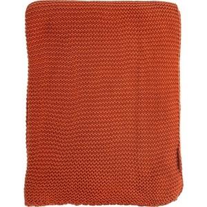 Плед жемчужной вязки терракотового цвета 220х180 Tkano Essential (TK18-TH0008)