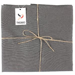 Скатерть на стол темно-серого цвета 143х250 Tkano Essential (TK18-TC0020)