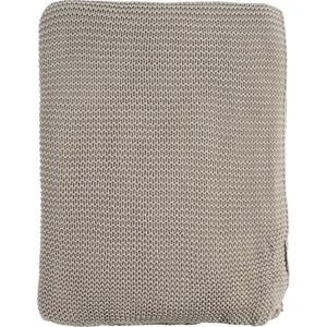 Плед жемчужной вязки серого цвета 220х180 Tkano Essential (TK18-TH0009)