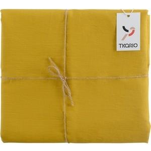 Скатерть на стол горчичного цвета 143х143 Tkano Essential (TK18-TC0014)