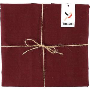 Скатерть на стол бордового цвета 143х143 Tkano Essential (TK18-TC0013)