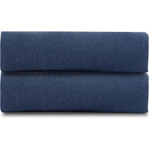 Простыня темно-синего цвета 180х270 Tkano Essential (TK18-LS0019)