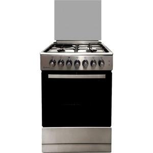Комбинированная плита DeLuxe 606031.12гэ 000(кр)чр нержавеющая сталь цена и фото