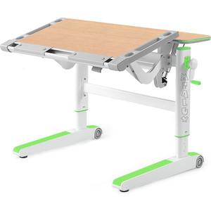 Детский стол Mealux Ergowood-M MG/Z BD-800 столешница клен дерево/накладки на ножках зеленые