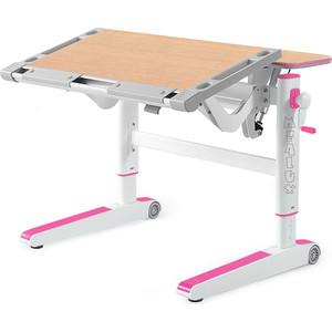 Детский стол Mealux Ergowood-M MG/PN BD-800 MG/PN столешница клен дерево/накладки на ножках розовые