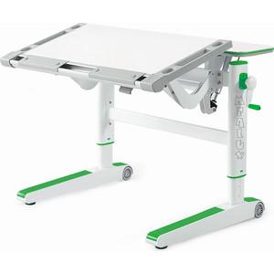 Детский стол Mealux Ergowood-L W/Z BD-810 столешница белая дерево/накладки на ножках зеленые