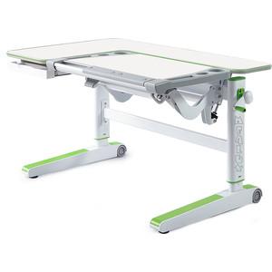 Детский стол Mealux Kingwood W/Z BD-820 столешница белая дерево/накладки на ножках зеленые