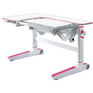 цена на Детский стол Mealux Kingwood W/PN BD-820 W/PN столешница белая дерево/накладки на ножках розовые
