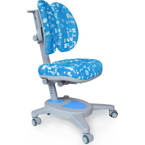 Кресло Mealux Onyx Duo Y-115 ABK обивка голубая с буквами
