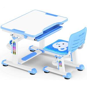 Комплект мебели Mealux BD-08 (столик+стульчик) Teddy blue столешница белая / пластик синий