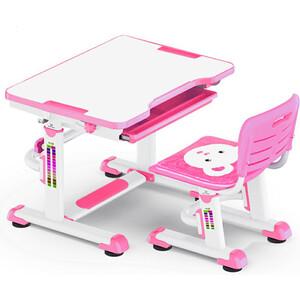 Комплект мебели Mealux BD-08 (столик+стульчик) Teddy pink столешница белая / пластик розовый