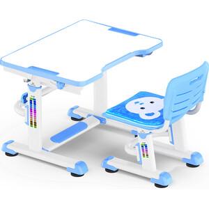 Комплект мебели Mealux BD-09 (столик+стульчик) Teddy blue столешница белая / пластик голубой