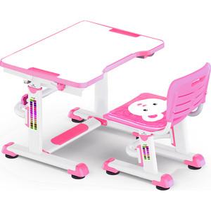 Комплект мебели Mealux BD-09 (столик+стульчик) Teddy pink столешница белая / пластик розовый