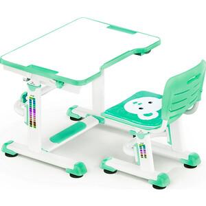 Комплект мебели Mealux BD-09 (столик+стульчик) Teddy green столешница белая / пластик зеленый