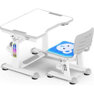 Комплект мебели Mealux BD-09 (столик+стульчик) Teddy grey столешница белая / пластик серый
