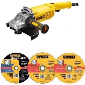 Углошлифовальная машина DeWALT DWE496D10-RK+10 кругов 230 мм