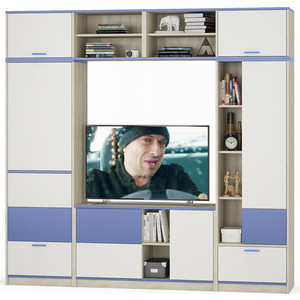Комлект мебели Моби Гольф № 09 голубой металл
