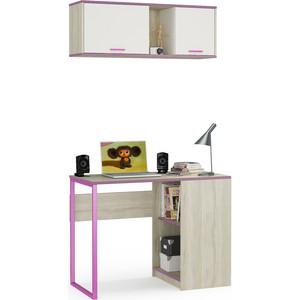 Комлект мебели Моби Гольф № 11 вяз либерти светлый/белый матовый/перламутр черешня