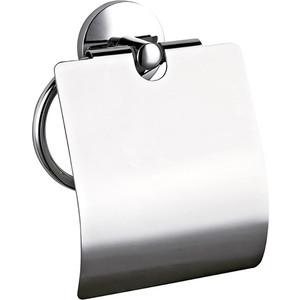 Держатель туалетной бумаги Nofer Monaco с крышкой, хром (16374.B)