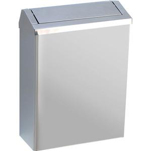 Контейнер для мусора Nofer 23 литра, настенный, с крышкой, хром/матовый (14078.S)