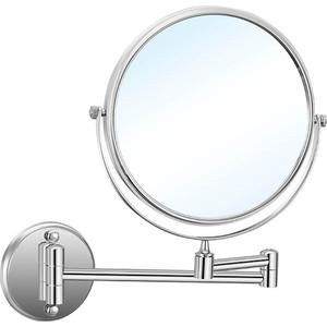 Зеркало для ванной Nofer Brass с увеличением 5х одной стороны/ без увеличения другой (08009.2.B)