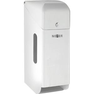 Диспенсер для туалетной бумаги Nofer Three rolls 3 рулонов, с крышкой, белый (05100.W)