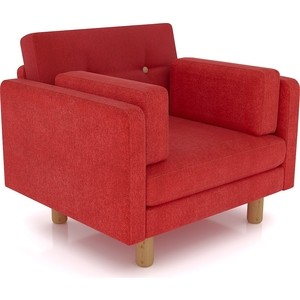 Кресло Anderson Ингвар красный велюр