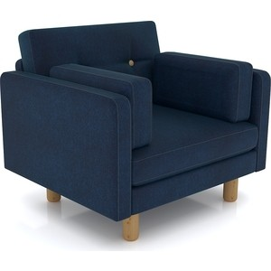 Кресло Anderson Ингвар синий велюр