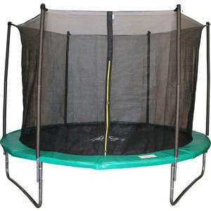 Батут DFC JUMP 8 FT складной, с защитной сеткой и чехлом, green (244см), НОВИНКА