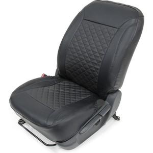 Авточехлы Rival Ромб универсальные на передние сидения, эко-кожа, черные, SC.U2.2