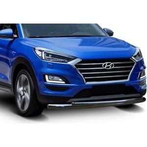 Защита переднего бампера d57+d42 Rival для Hyundai Tucson III рестайлинг (2018-н.в.), R.2311.001