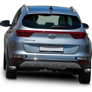 Защита заднего бампера d57 уголки Rival для Hyundai Tucson III (кроме High-Tech Plus) (2018-н.в.) / Kia Sportage IV (в том числе GT-Line) (2018-н.в.), R.2311.007