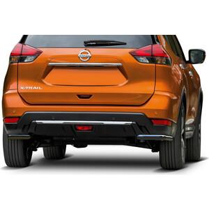Защита заднего бампера d57+d42 Rival для Nissan X-Trail T32 рестайлинг (2018-н.в.), R.4125.005