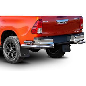 Защита заднего бампера d76+d57 уголки Rival для Toyota Hilux VIII (Exclusive) (2018-н.в.), 2 части, R.5722.006
