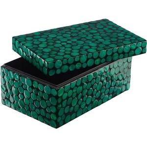 Шкатулка для хранения ВеЩицы Малахитовые кольца, зеленый, черный Д210 Ш120 В100