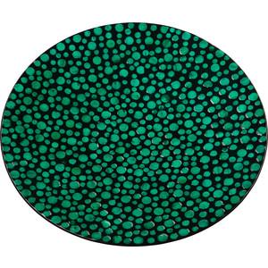 Блюдо декоративное ВеЩицы перламутровое Малахитовые кольца, зеленый, черный Д550 Ш550 В60