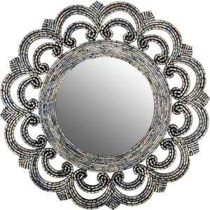 Зеркало ВеЩицы перламутровое Серебряная россыпь, серебристый, черный Д800 Ш800 В20