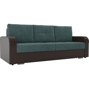 Прямой диван Лига Диванов Мейсон велюр бирюза экокожа коричневый диван лига диванов милтон экокожа коричневый прямой