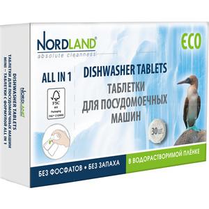 Фото - Таблетки для посудомоечной машины (ПММ) Nordland 30 шт по 14 г жевательная резинка конфитрейд emojii без сахара 12 шт по 14 г