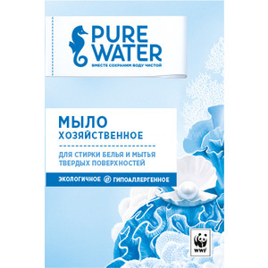 Мыло PURE WATER хозяйственное 175 г мыло хозяйственное sarma против пятен 140 г