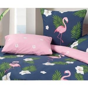 цена на Комплект постельного белья Ecotex Семейный, сатин, Гармоника Фламинго (4650074957852)