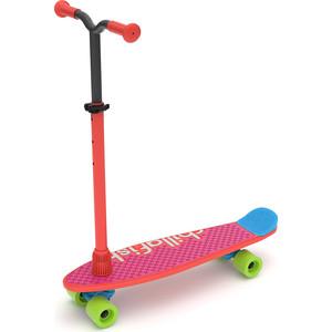 Детский скейтборд-самокат 2 в 1 Chillafish Skatie Skootie (Бельгия) (красный)
