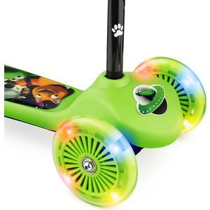 Самокат со светящимися колесами 2 в 1 Small Rider Scooter Flash (CZ) (зеленый)