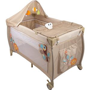 Манеж кровать Capella S10-6 бежевый (львенок) GL000479304 цена
