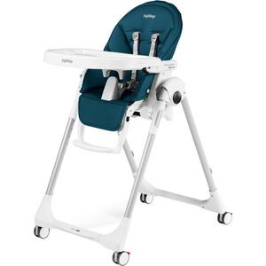 Стульчик для кормления Peg-Perego PRIMA PAPPA FOLLOW ME PETROLIO (т.синий/кожзам) GL000880653 стульчик для кормления peg perego siesta follow me noce